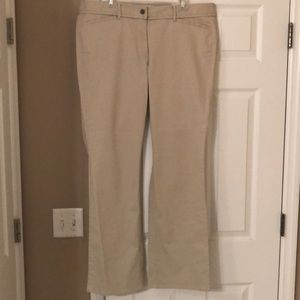 Size 16 Loft boot cut khaki pants NWT